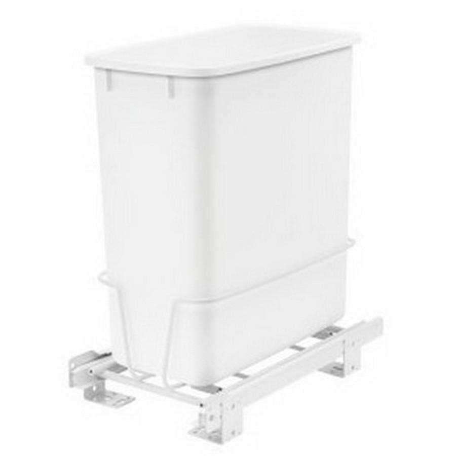 RV-814 Single 20 Quart Bottom Mount Waste Container White Rev-A-Shelf RV-814PB