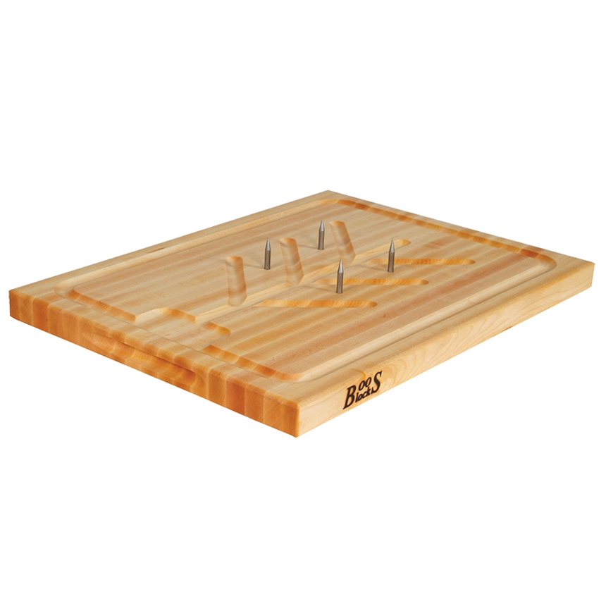 John Boos SLIC 20 L Cutting Board, Professional Collection, Slicer Board, Maple, 20 L x 15 W x 1-1/4 Thick