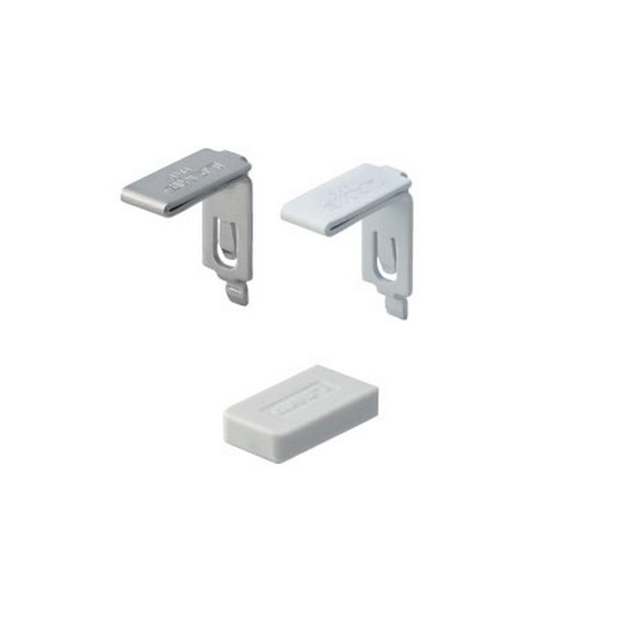 Stainless Steel Thin Heavy Shelf Clip White Sugatsune SPE-FB20S-WH