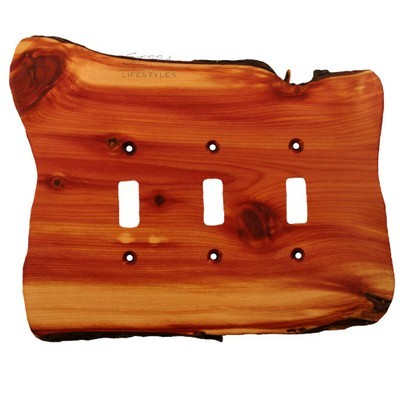 Sierra Lifestyles 682218, Switchplate, Rustic, 3 Toggle, Juniper Plate