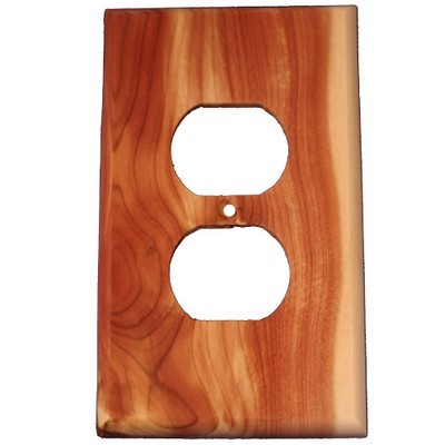 Sierra Lifestyles 682405, Outlet Plate, Standard, Traditional, 1 Duplex, Juniper Plate