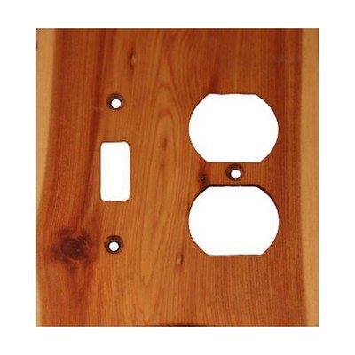 Sierra Lifestyles 682549, Outlet Plate, Standard, Traditional, Toggle / Duplex, Juniper Plate