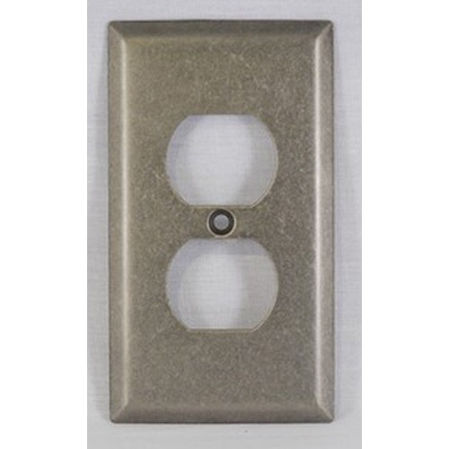 WE Preferred SZBH10-WN, Single Outlet Cover, Weathered Nickel, Builders Hardware Collection