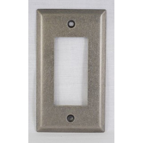 WE Preferred SZBH11-WN, Single Rocker/Decorator Plate, Weathered Nickel, Builders Hardware Collection