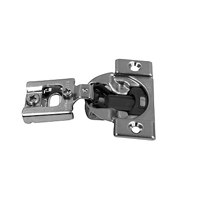 "Blum 38N355BE08 105 Degree Soft Close Edge Mount Hinge, Screw-On, 5/16"" to 3/4"" Overlays"
