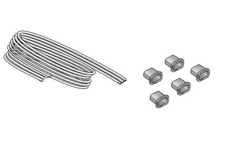 SERVO-DRIVE Universal Cable Set with End Protectors 26' Long Black Blum Z10K800AE