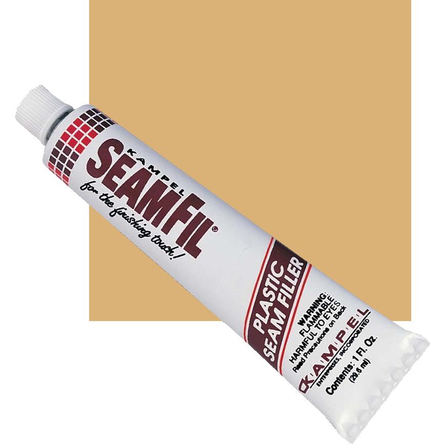 SeamFil Laminate Repairer Tan 1.0 oz Tube Kampel 904