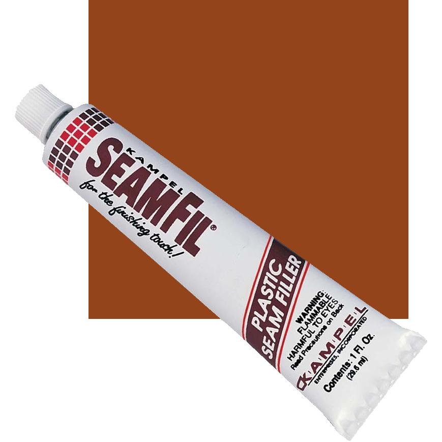 SeamFil Laminate Repairer Teak 1.0 oz Tube Kampel 933