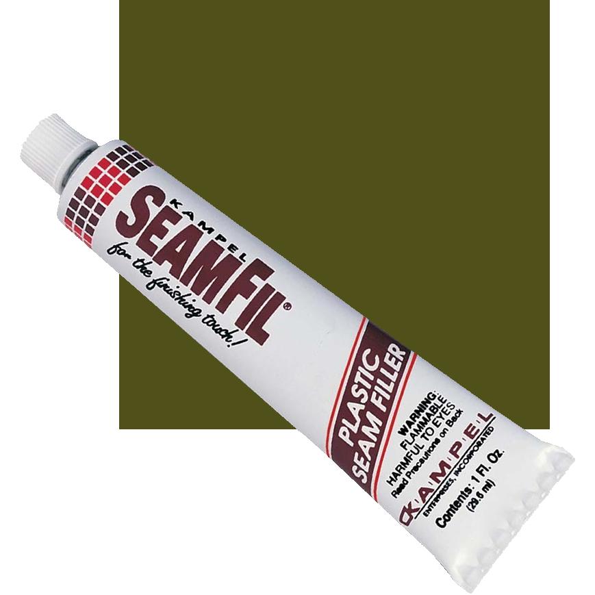 SeamFil Laminate Repairer Olive 1.0 oz Tube Kampel 939