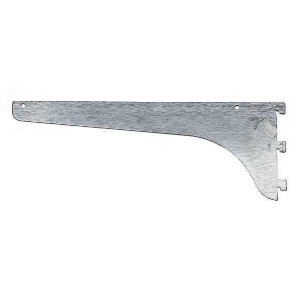 WE Preferred B01-53181-224 18in HD Single Slotted Shelf Bracket, with Lock Lever, Brushed Zinc