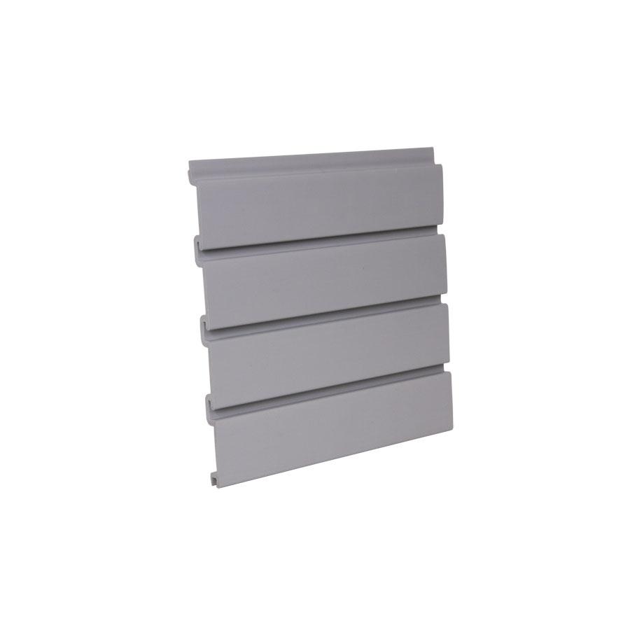 "HandiSOLUTIONS HSW3008 Bulk-4, 8' L x 12-1/4"" H Slatwall Panel, Heavy-Gauge PVC, Gray"