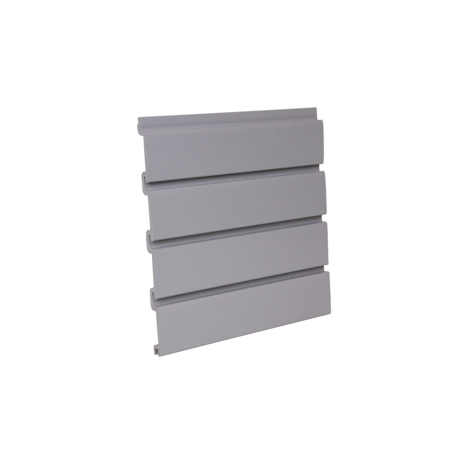 "HandiWALL Slatwall Panel 48"" x 12-1/4"" Gray Bulk-8 Pieces  HandiSOLUTIONS HSW3004"