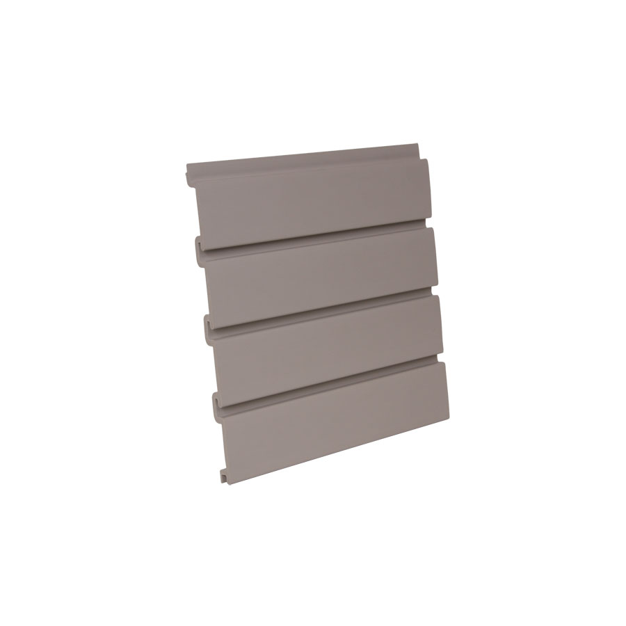 "HandiWALL Slatwall Panel 96"" x 12-1/4"" Taupe  Bulk-4 Pieces HandiSOLUTIONS HSW2008"