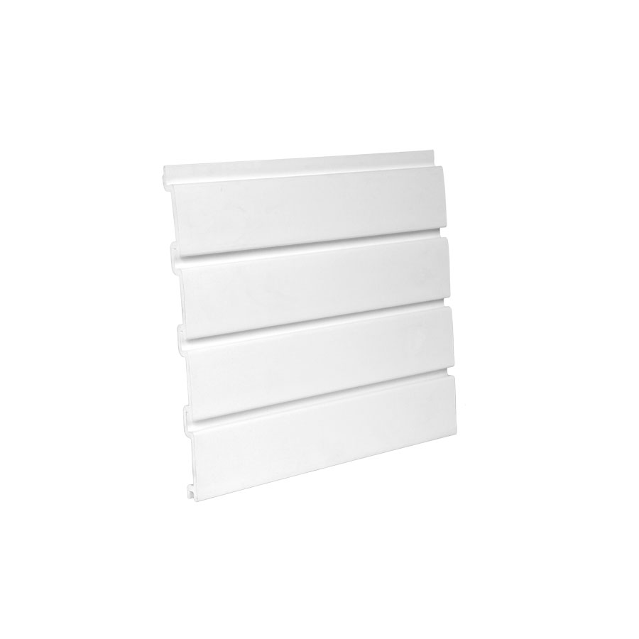 "HandiWALL Slatwall Panel 48"" x 12-1/4"" White Bulk-8 Pieces HandiSOLUTIONS HSW1004"