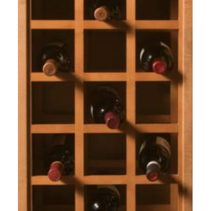 Omega National L3240HUF9, 24 x 30 Wood Sonoma Series Wine Rack, Hickory, (1) Pair Per Pack (front/back)