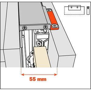 Salice Pocket Door Lateral Kit 55mm for Cabinet Depth 400-650mm, YE55KIT0001