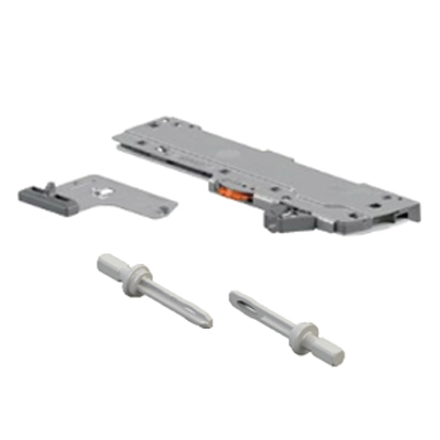 "Blum T60L7340 Standard Duty L1 TIP-ON BLUMOTION Set for 14""-22"" Drawers, Left & Right, Light Gray"