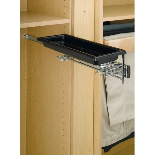 Rev-A-Shelf TBC-14TCR - Tie/Belt Rack w/Tray, Chrome