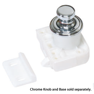 Sugatsune TLP-LBM/WHT, Latch Body for Push Knob Latch, White (Push Button & Base sold separately)