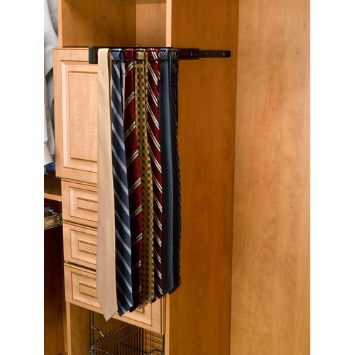Rev-A-Shelf TRC-12ORB - 12in Side Mount Tie Rack, Oil-Rubbed Bronze