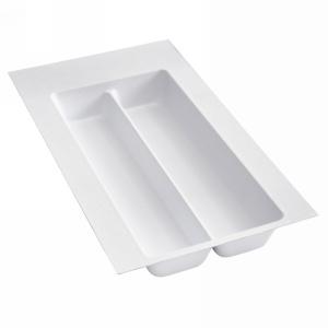 """Plastic Utensil Drawer Insert 11-1/2"""" W White Rev-A-Shelf UT-10W-10"""