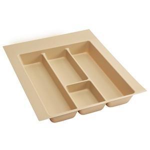 """Plastic Utensil Drawer Insert 11-1/2"""" W Almond Rev-A-Shelf  UT-15A-20"""
