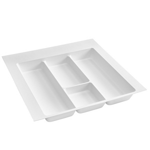"21-7/8"" Utensil Drawer Insert, Plastic, White, Rev-a-shelf  UT-18W-10"