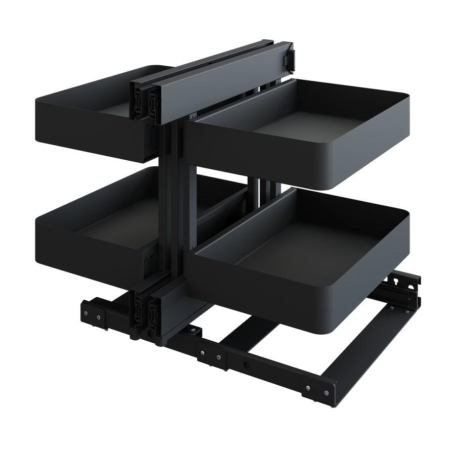 "COR Flex Planero Full Access 36"" Blind Corner Pull-Out 4 Basket Carbon Steel Gray Vauth-Sagel"