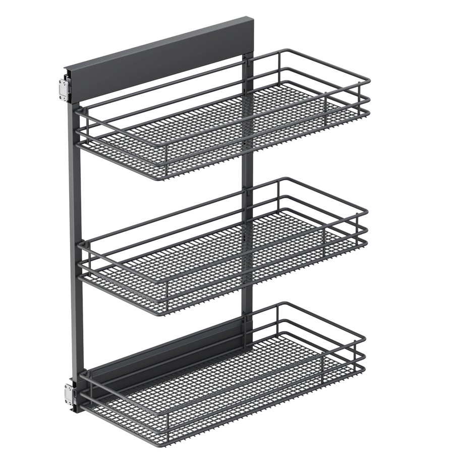 "SUB Side Saphir 10-1/8"" 3 Basket Base Cabinet Organizer Carbon Steel Gray Vauth-Sagel"