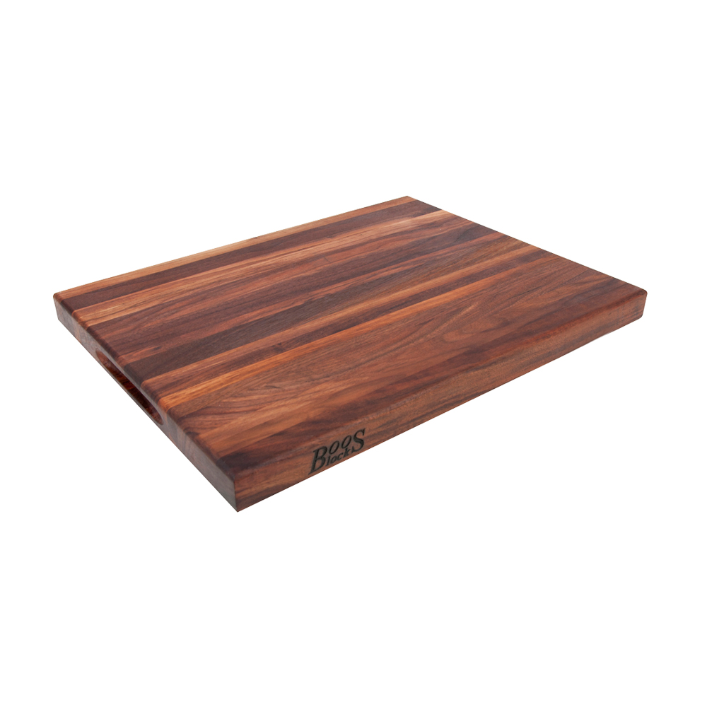John Boos WAL-R03 20 L Cutting Board, R-Board Collection, Black Walnut, 20 L x 15 W x 1-1/2 Thick