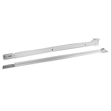 Grass 13636-08 22-3/4 (578mm) 100lb Epoxy Coated Right Hand Cabinet Member Bulk-100, Double Captive with V-Notch Mounting, White