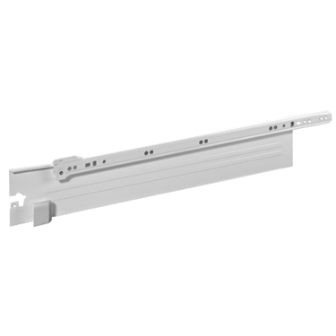 Grass 9113.500.2 20in (500mm) Integra AL9113 Drawer Slide, 3-3/8 Side Height, White