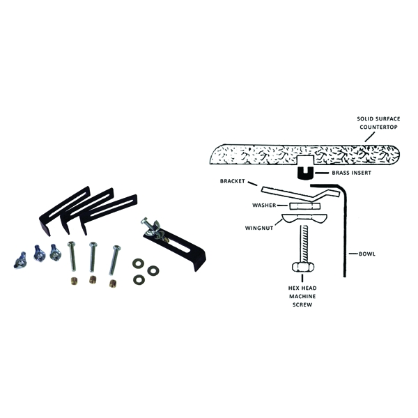 Vance Industries 5U, Undermount Sink Mounting Kits