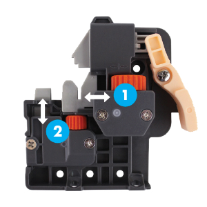 WE Preferred 0684250528961 120 Front Right Fixing Clips 2D Adjustable