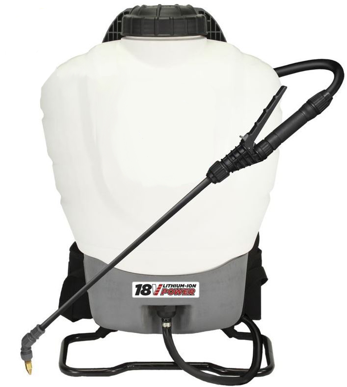 4 Nozzle Battery Operated Backpack Sprayer 4 Gallon