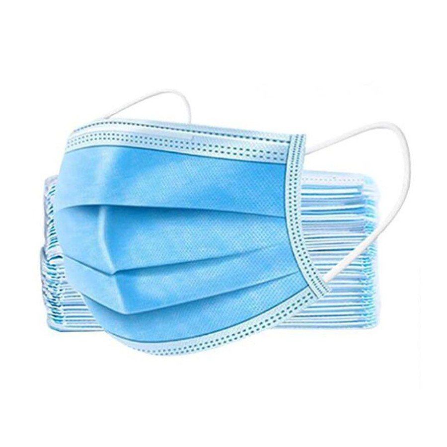 3-Ply Blue Pleated Disposable Mask Bulk-10 Masks WE Preferred FM3PLY 10