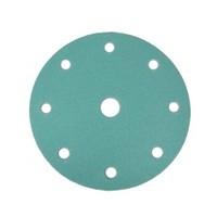 WE Preferred 8506304040961 50 Abrasive Discs, Aluminum Oxide on Film, 6in 9-Hole Hook & Loop, 400G