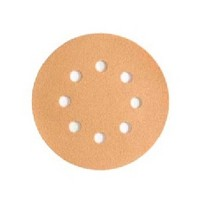 WE Preferred 8507322012961 50 Abrasive Discs, Aluminum Oxide on C-Weight Paper, 5in, 8-Hole, Hook & Loop, 120 Grit