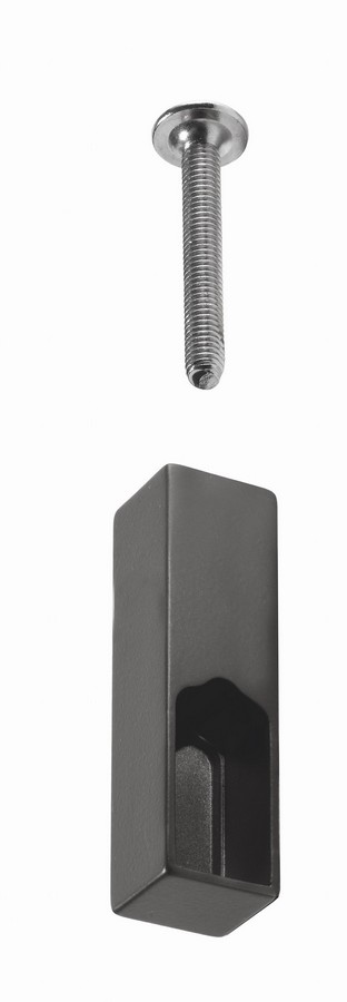 Die-Cast Center Support For Hanger Rail-Top of Cabinet Application Metal Grey-Brown Salice YE80DAHA1133B
