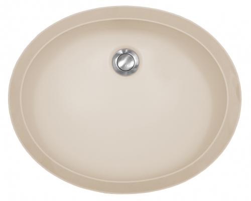 "Acrylic Oval Vanity Undermount Single Bowl 19"" x 15-1/2"" Bisque Karran A-306-BISQUE"