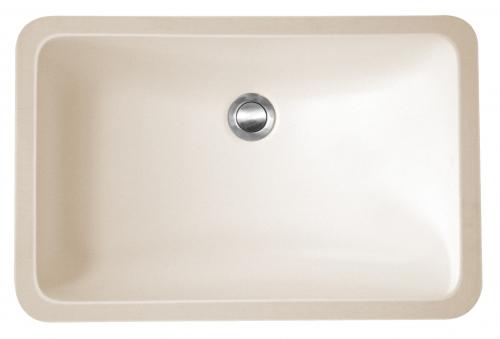 "Acrylic Vanity Undermount Single Bowl 20-3/4"" x 13-3/4"" Bisque Karran A-309-Bisque"