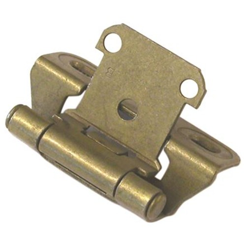 Amerock CM7566-BB Partial Wrap, Self-closing Face Frame Hinge, Standard Tip, 1/4 Overlay, Burnished Brass