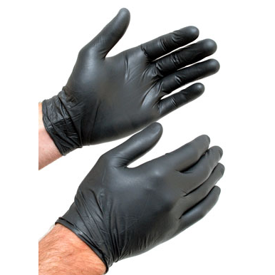 WE Preferred Disposable Nitrile Gloves, Powder Free, Black, Large
