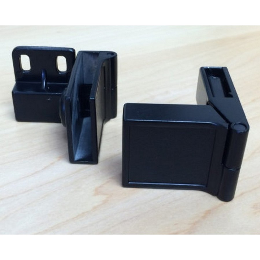 Inset Side Mount Glass Door Hinge Black Wood Technology 2249.001.060