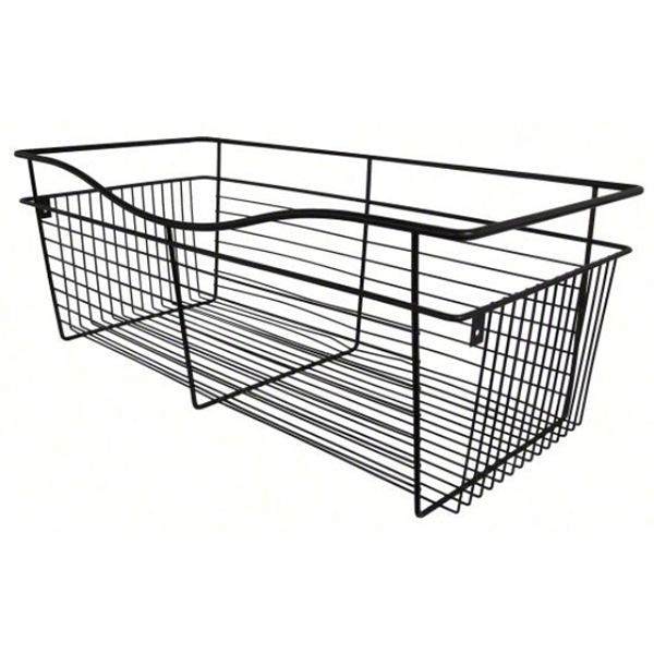 Rev-A-Shelf CB-182011ORB-1 - Wire Basket 20inD Closet Pullout Basket, Oil-Rubbed Bronze