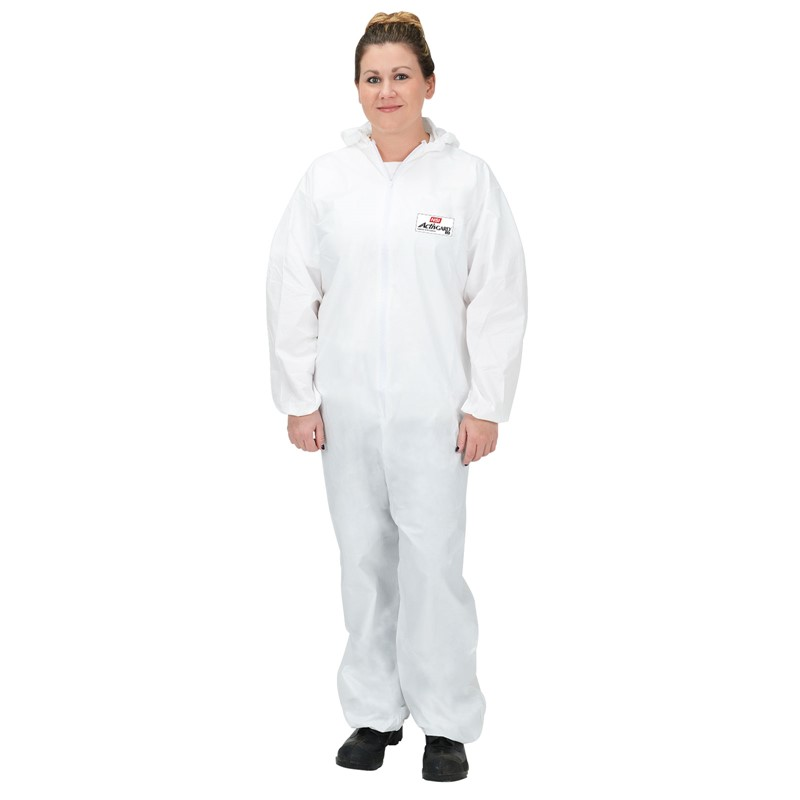 Disposable Coveralls with Hood Size 4 X Large White WE Preferred 0931285669961 1