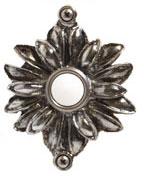 Emenee DB1004ABR, Doorbell, Flower With Two Loops, Antique Matte Brass, Solid Brass Doorbell