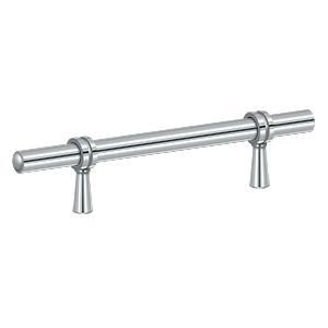 "Deltana P311U26, Adjustable Bar Pull 3"" to 6-1/4"" (76mm - 159mm) Centers, Polished Chrome"