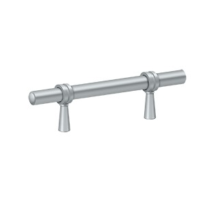 "Deltana P310U26D, Adjustable Bar Pull 2"" to 4-1/4"" (59mm - 108mm) Centers, Brushed Chrome"