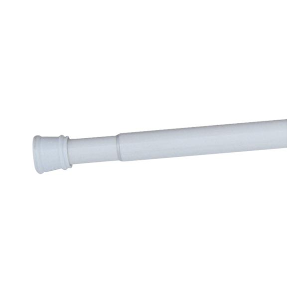 Design House 561001 Adjustable Shower Rod, White